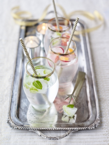 Celery and mint ice cubes