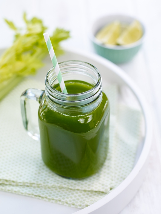 Celery, spinach and cucumber juice
